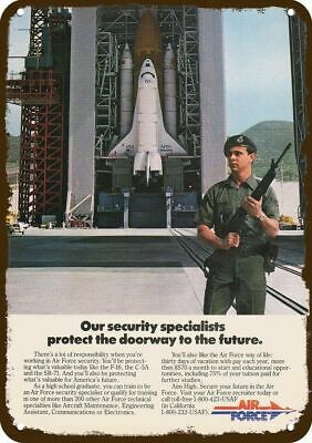 1985 Air Force Mp Military Police Guards Space Shuttle Enterprise - Metal Sign