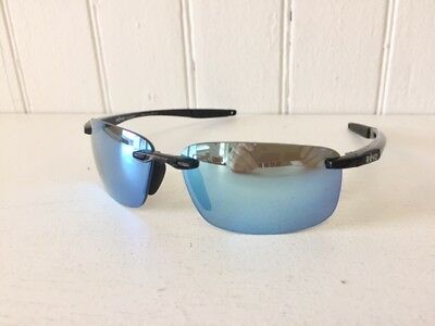 REVO RE4059 01 BL DESCEND N Black w/ Blue Water POLARIZED Lenses Sunglasses