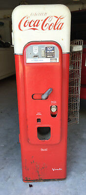 COMPLETELY ORIGINAL VENDO 44 COCA-COLA POP BOTTLE MACHINE w/ Side RACK - RARE!