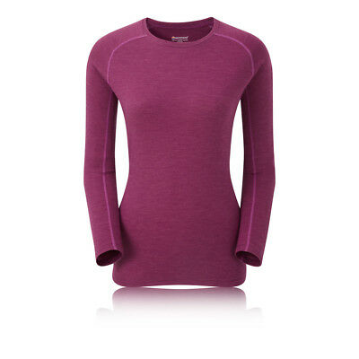Montane Primino 220g Womens Purple Long Sleeve Crew Neck Outdoors Warm Top