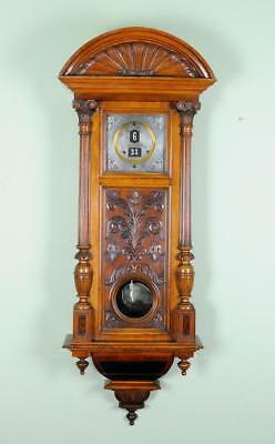 Antique Digital Vienna Regulator Wall Clock