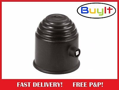 Lockable BLACK Plastic Tow Ball Cover Cap 50mm