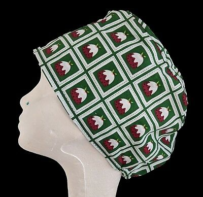 Figgy Pudding Operating Theatre Scrub Caps/Hats - nurse, ODP, surgeon, vet