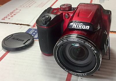 Nikon COOLPIX B500 16MP Wi-Fi WIFI Digital Camera w/ 40x Optical Zoom Lens Red