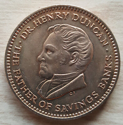 Trustee Savings Bank week 1960  Dr. Henry Duncan token - high grade