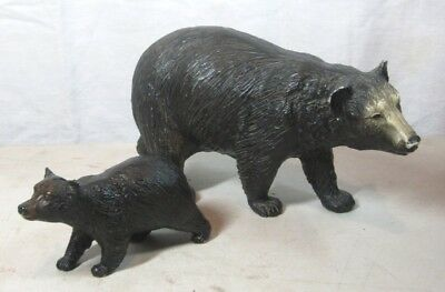 Pair of Vintage Breyer Figurines Mama Bear and Cub Nice