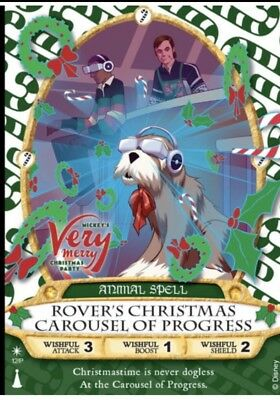 Sorcerers Magic Kingdom 2017 Christmas Party Card Rover's Carousel Of Progress