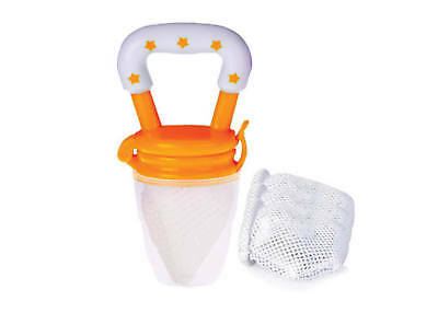 NEW Cherub Baby Fresh Food Feeder with 4 nets ORANGE Baby Food Holder Mesh