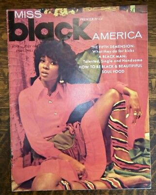 BLACK AMERICA MAGAZINE - Vol 1 No 1 June/July 1969 ~ PREMIER ISSUE ~ RARE