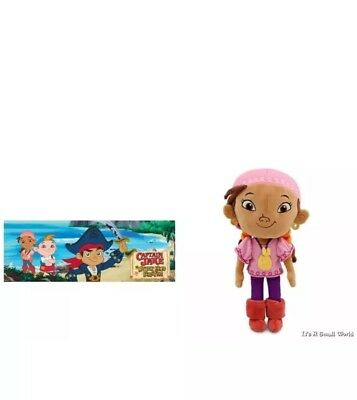 "Disney Jake and the Never Land Pirates Izzy Soft Doll  Stuffed Size 11"" H NWT"
