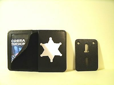 "Universal 6 Point Star Police Badge ID Holder Case 2 3/4"" H x 2 3/8"" W Cut Out"