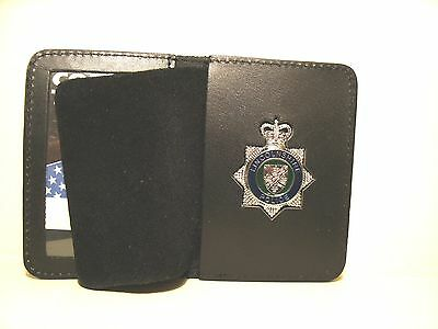 Gloucestershire Constabulary Cap Badge Warrant Card Holder Fits 50mmx43mm badges