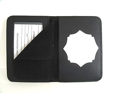 Badge ID Case Holder Captain Auburn ME Police Officer Cut Out CT-14 LG Bifold