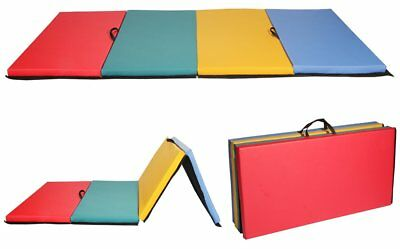 4x8x2 Thick Folding Panel Gymnastics Mat Gym Fitness Exercise Home Yoga Floor