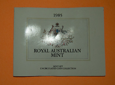 1985 Royal Australian Mint 7 Coin Uncirculated Set Canberra Animals Elizabeth II