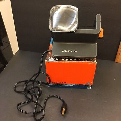 Agfascop 200 Slide Viewer With Box Vintage Made in Germany for Photo Slides