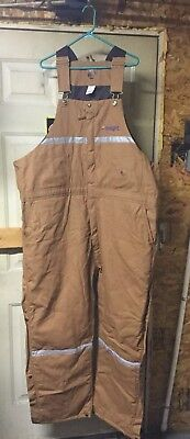 Berne Overalls: Water-Repellent Deluxe Overalls B415 BD INSULATED NEW Size 3XL