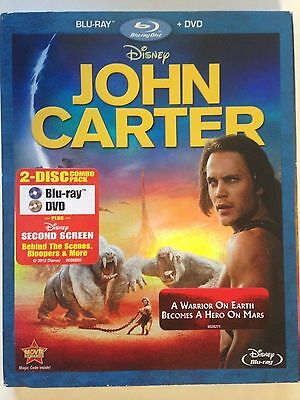 "John Carter (Blu-ray/DVD, 2012, 2-Disc Set, ) Based on Novel ""Princess of Mars"""