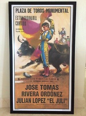Authentic Vintage Lithograph Poster , Spain Bull Fight Advertising ~ BALLESTAR