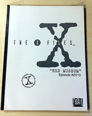THE X-FILES RED MUSEUM AUTHORIZED ORIGINAL SHOOTING SCRIPT Anderson Duchovny