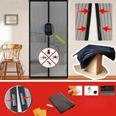 2x Mosquito Door Net Mesh Screen Bug Pet Patio Hands Free Magnetic  Closer