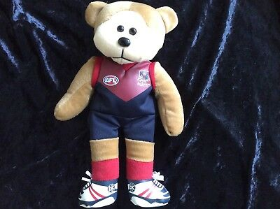 Beanie Kids Molly. Melbounre Football Club  Beanie Bear