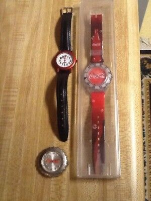 Coca Cola collectible wrist watches.
