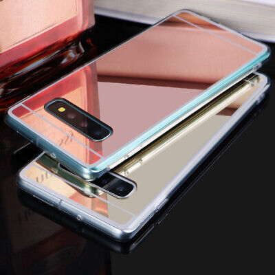 For Samsung S9 S8 J6 J4 Plus A8 A7 2018 Luxury Mirror Soft Silicone Case Cover