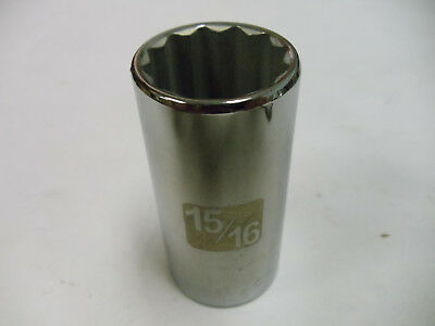 """Craftsman 3/8"""" Drive Laser Etched Deep Sockets Metric & STD 12 Point Made in USA"""