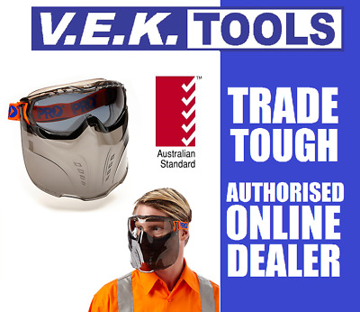 PRO CHOICE SAFETY Tinted Goggles Face Shield Mask-Tradie,Dirt Motor Bike,Glasses
