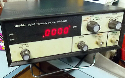 Pair HEATHKIT IM-2420 & DSI 5600A Digital Frequency Counters Tested & Working