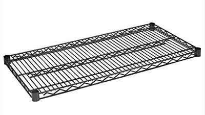 "Wire Shelving Extra Shelves Black, 36"" x 18"", 2/Pack"