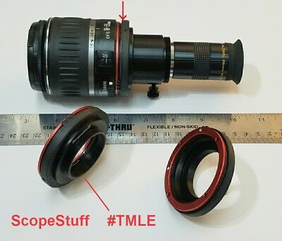 ScopeStuff #TMLE - Canon EOS  Lens to T-Thread Adapter, Fits Back of SLR Lens