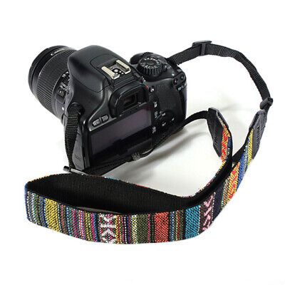 Vintage SLR DSLR Camera Shoulder Neck Strap Belt for Sony Canon Nikon Pentax UK