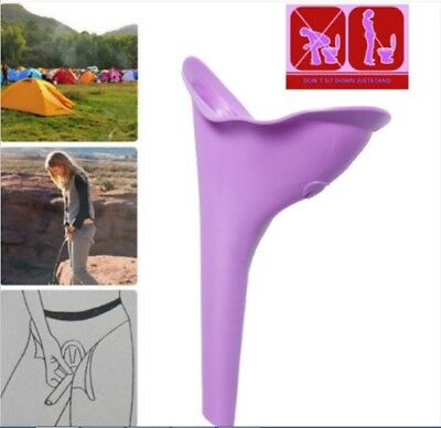 Portable Female Urinal Toilet Soft Silicone Travel Stand Up Pee Device Funnel