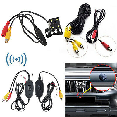 2.4G Wireless Rear View Video Transmitter & Receiver + CCD Car Backup Camera