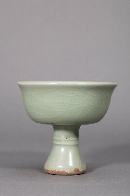 Chinese Longquan Celadon Wine Cup with carved Tortoise