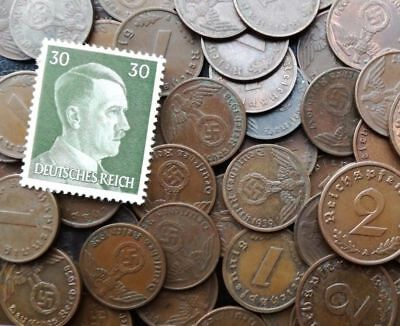 S34 1 Set of German 10 coins 5 10 pfennig  with Swastika and eagle