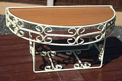 1960s WROUGHT IRON TELEPHONE TABLE