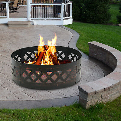 """BLANKS HEAVY DUTY STEEL 12 PANELS CAMPFIRE FIRE PIT//RING 48/"""" DECAGON"""