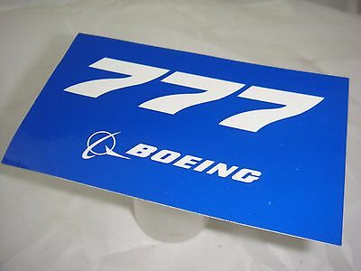 Boeing 777 Sticker  Genuine  Boeing Produced Item Made In Usa