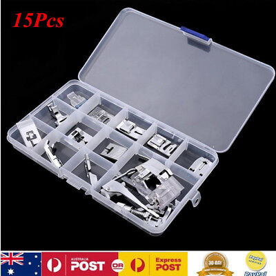 15xPressor Foot Sew Accessory For Brother Singer Janome Domestic Sewing Machine