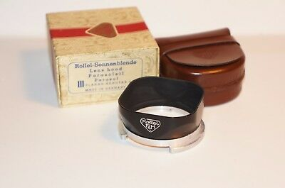 Rolleiflex Bay III Lens Hood with case and box for 2.8F, 2.8E, 2.8D, 2.8C etc
