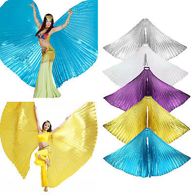 Egyptian Shiny Belly Dance Wing Fancy Costume Isis Dancer Wear Prop Opening Wing