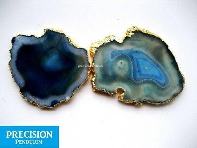 Blue Onyx Slice Gemstone Crystal Chakra Agate Coaster Healing Therapy
