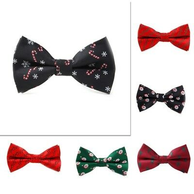 Christmas Men Bowtie Necktie Bow Tie Adjustable Lovely Novelty Festival Gift