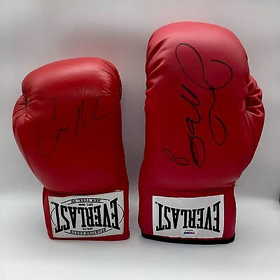 RARE Floyd Mayweather Conor McGregor Signed Boxing Gloves + PROOF + COA PSA DNA