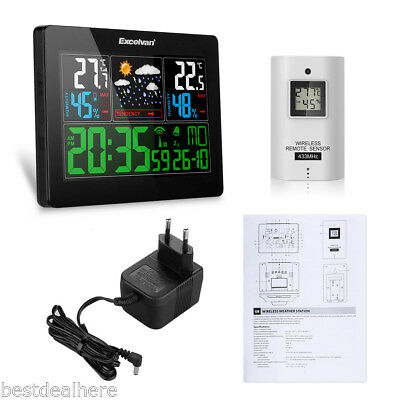 EXCELVAN LED COLOR Weather Station Forecast Temperature Humidity Alarm