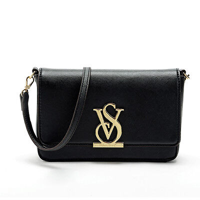 Victoria's black Crossbody Bag VS Clutch With Strap, New