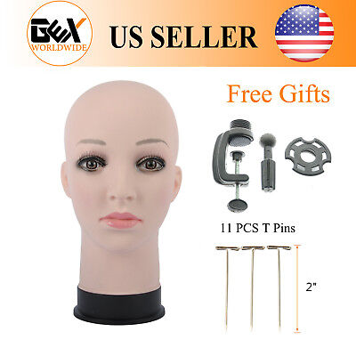 GEX Female Cosmetology Bald Mannequin Head Wigs Hats Display & For Making Wigs